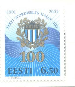 Estonia Sc 416 2001 Kalev Sports Association stamp mint NH