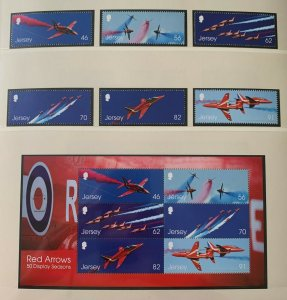 JE55) Jersey 2014 Aircraft - Red Arrows set of 6 & M/S MUH