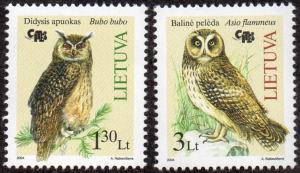 Lithuania 776-77 - Mint-NH - Owls (2004) (cv $3.25)