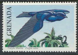 Grenada Birds SG 2161   Sc# 1882  Purple Martin  MNH