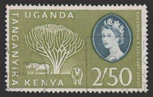 BRITISH EAST AFRICA KENYA UGANDA AND TANGANYIKA 1960 SCOTT 132. USED