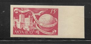 MONACO, 246,  MINT HINGED, UPU ISSUE, IMPERF WITH TAB