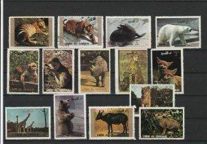 Umm Al Qiwain Various Animals Seal Monkey Etc Stamps Ref 24880