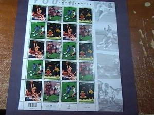 U.S.# 3439-3443-MINT/NEVER HINGED--PANE OF 20---YOUTH TEAM SPORTS----2000