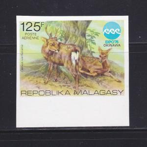 Malagasy Republic C145 Imperf Set MNH Animals, Deer (B)