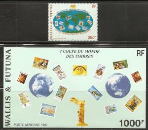 Wallis and Futuna Islands C197-8 1997 Stamp Salon set and s.s. NH