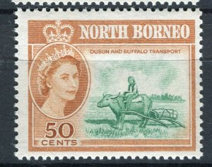 NORTH BORNEO; 1961 early QEII pictorial issue fine Mint hinged 50c. value