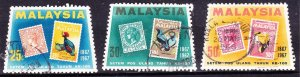 MALAYSIA 1967 Set of 3 Stamp Centenary Issue SG48-50 Fine Used