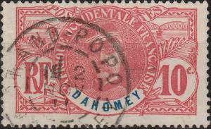 DAHOMEY - 1911 - CAD  GRAND-POPO / DAHOMEY  SUR 10c FAIDHERBE