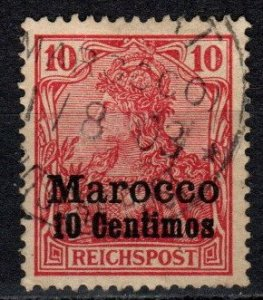 Germany Offices In Morocco #9 F-VF Used  (S10732)