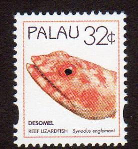 Palau 367 - Mint-NH - Reef Lizardfish (cv $0.60)