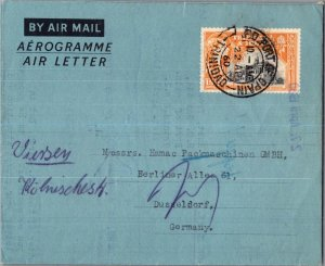 Trinidad 12c San Fernando Town Hall Air Letter 1960 G.P.O. Port of Spain, Tri...