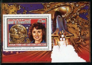 MAURITANIA 1986 MEMORIAL FOR THE SPACE SHUTTLE CHALLENGER DELUXE  S/S   MINT NH