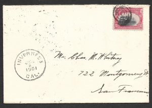 Doyle's_Stamps: 1901 Postal History for Inverness, California