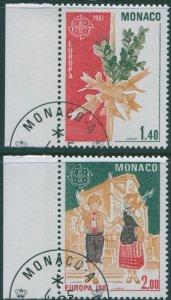 Monaco 1981 SG1488-1489 Europa set FU