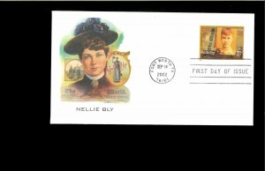 2002 First day Cover Women on Journalism Fort Worth TX