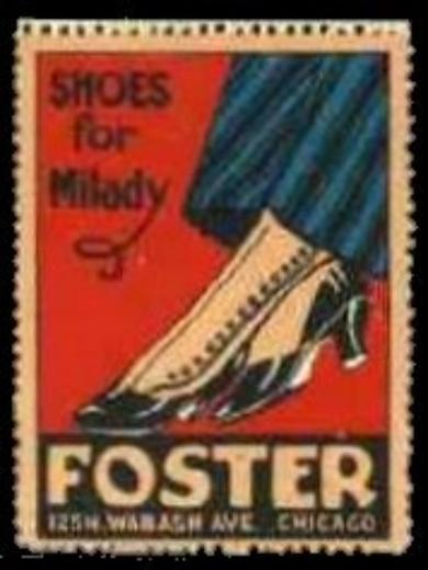 Foster Shoes for Milady Advertising Poster Stamp