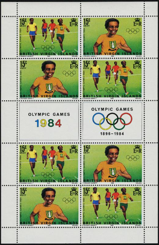 Virgin Islands 472a Sheet MNH Olympic Games, Athletics