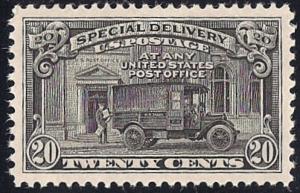 E19 20 cent P.O Truck Stamp mint OG NH EGRADED SUPERB 99 XXF