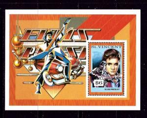 St Vincent 1643 NH 1992 Elvis Presley Souvenir Sheet
