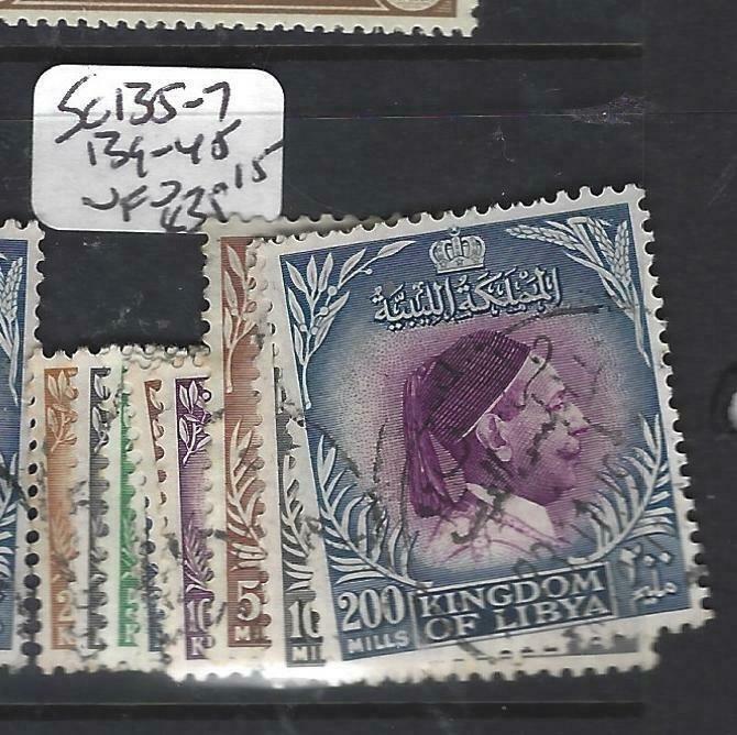 LIBYA  (PP2706B)  SC 135-7, 139-145       VFU