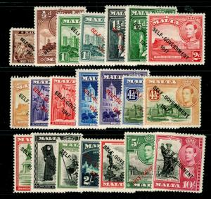 MALTA SG234-248, COMPLETE SET, M MINT. Cat £90.