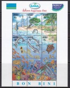 Aruba, Fauna, Animals, Birds, Fishes MNH / 1997