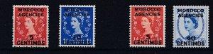 MOROCCO AGENCIES  1954 - 56  S G 187 - 190 MNH