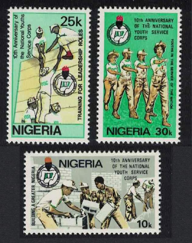 Nigeria 10th Anniversary of National Youth Service Corps 3v SG#452-454