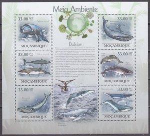 2010 Mozambique 3614-19KL Whales 10,00 €