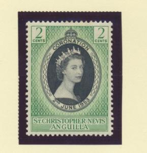 St. Kitts-Nevis Scott #119, Mint Never Hinged MNH, Queen Elizabeth II Coronat...