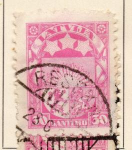 Latvia 1924-25 Early Issue Fine Used 30s. 228200
