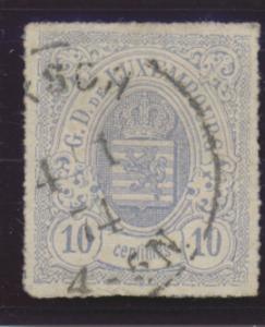 Luxembourg Stamp Scott #19, Used - Free U.S. Shipping, Free Worldwide Shippin...