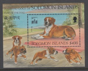 Solomon Islands 771 Dog Souvenir Sheet MNH VF