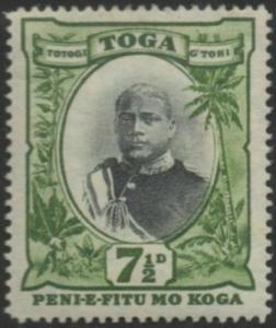 Tonga 1897 SG48 7½d King George II type II MH