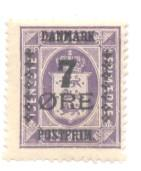 Denmark Sc 190 1926 7 ore ovpt on 15 o Official stamp mint