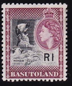 British Commonwealth Basutoland QEII 1963 R1 Mohair High value of Long Set XF/NH