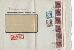 Germany Soviet Zone 1948 Ilmenau to Berlin Folded stamps cover  R20751