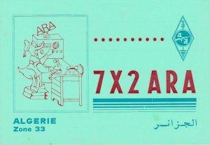 9739 Amateur Radio QSL Card ALGIER ALGERIA