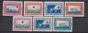 J25828  jlstamps 1969 guatemala mnh set #cb15-21 red cross