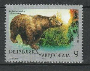 Macedonia 2003 Fauna Bear MNH stamp
