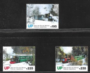 ARGENTINA 2019 TRANSPORT ,TRAIN OF THE END OF WORLD AT FIRELAND MNH pack