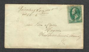 Gaines Cross Roads Virginia DPO 4 M/S Cancel 19th Century Cover