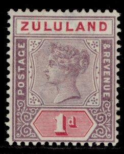 SOUTH AFRICA - Zululand QV SG21, 1d dull mauve & carmine, M MINT.