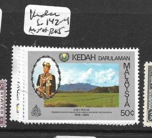 MALAYA  KEDah  (P1107B)  SG 142-4    MNH
