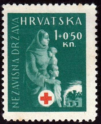 Croatia #B42 Mother and Children, unused. HM