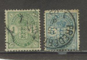 Danish West Indies 21-2  Used cgs