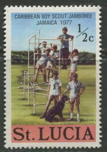 St. Lucia - Scott 419 - Scouts -1977 - MNH - Single 1/2c Stamp