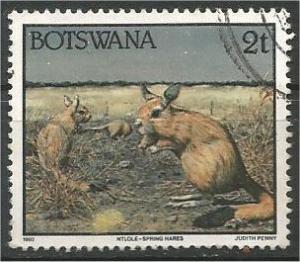 BOTSWANA, 1992, used 2t,  Spring hares Scott 519