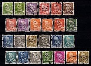 Denmark 1948-55 Frederik IX Definitive (incl.die variations) Part Set [Used]
